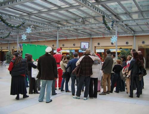 Einkaufszentren in Italien mit Photobooth Zubehör zu Weihnachten