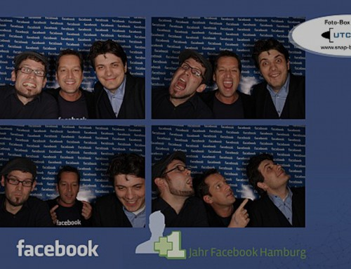 "Einjähriges ""Facebook"" Firmenevent mit der Fotobox"