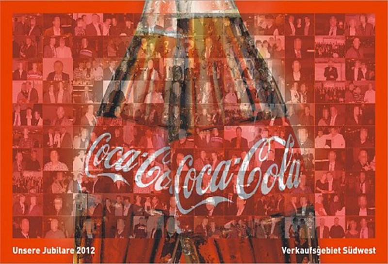 Teambuilding Event Mannheim - Coca-Cola Jubiläum mit Fotomosaik