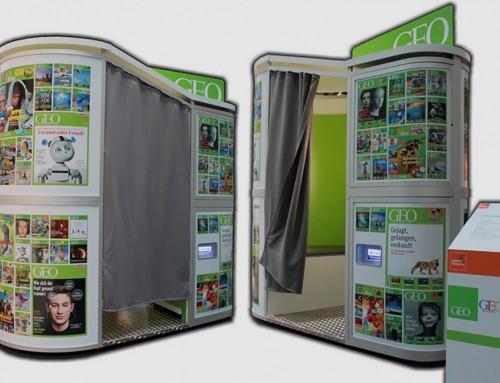Per SNAP-BOX und Photobooth Zubehör aufs Cover der GEO – IdeenExpo