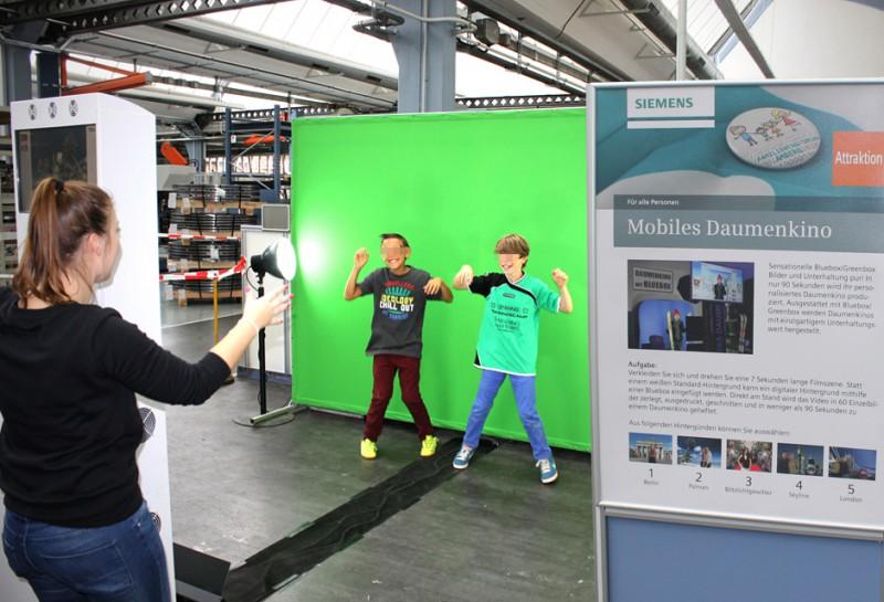 Mobiles Daumenkino mieten - Siemens Niederlassung Amberg
