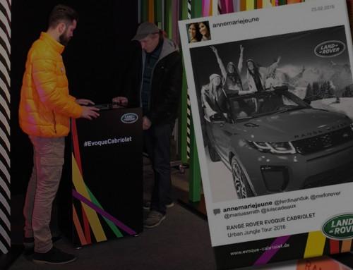 Optimale Markteinführung des Range Rover Evoque Cabrio mit Hashtag Fotospaß!
