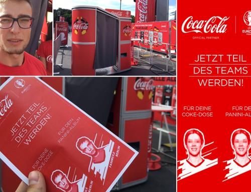 Fotobox mieten Europameisterschaft – Panini-Sammelbilder für Coca Cola