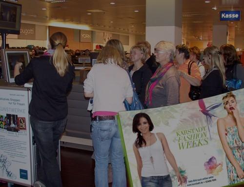 Verkaufsförderung POS Beispiele – Karstadt Ladies Night Roadshow!