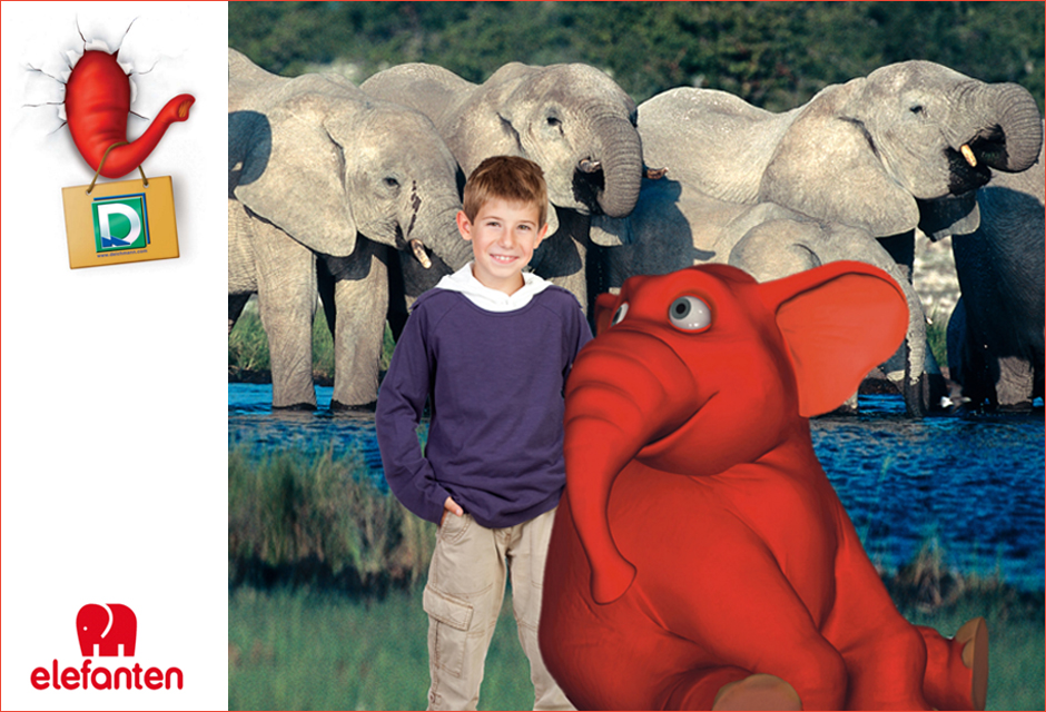 POS Fotoaktion Stuttgart - Deichmann Elefanten Schuhe Roadshow