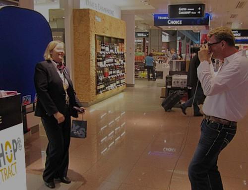 Promotion Roadshow der L'TUR in Duty Free Shops deutscher Airports