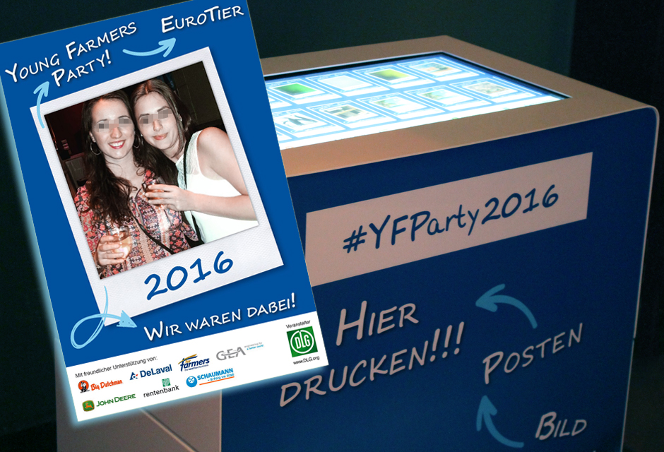 Hashtag Printer Hannover - Young Farmers Party 2016 Euro Tier