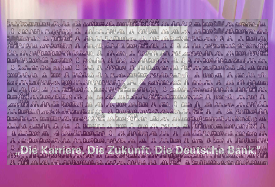 Teambuilding Event Hannover - Deutsche Bank Fotomosaik Eventmodul