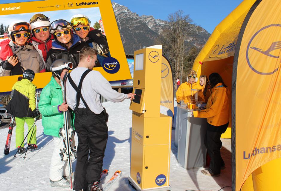 Fotobox mieten Zillertal - Lufthansa Ski Roadshow