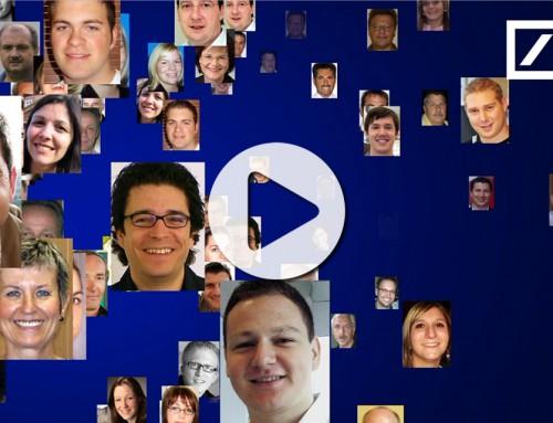 Teambuilding Event Essen – Fotomosaik Rekordeinsatz für Deutsche Bank