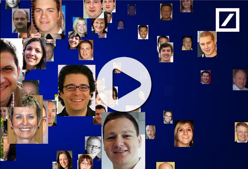 Teambuilding Event Essen - Fotomosaik Rekordeinsatz für Deutsche Bank