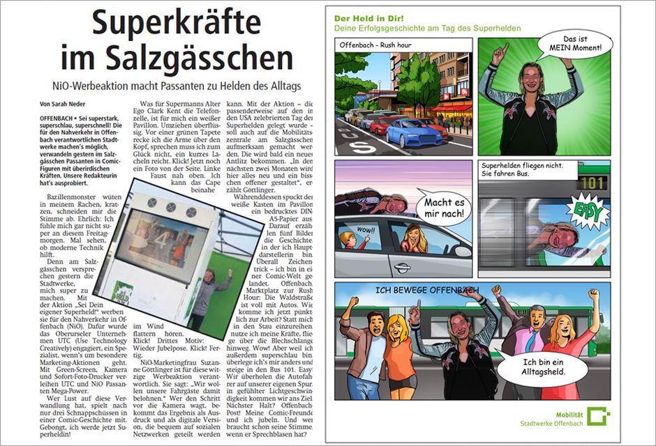 Comic Eventfoto Offenbach - Individuelle Cartoons für Werbeaktion