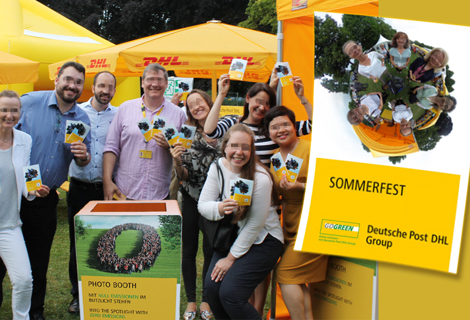 360° Fotoevent Bonn - Deutsche Post Fest mit Social-Media-Drucker