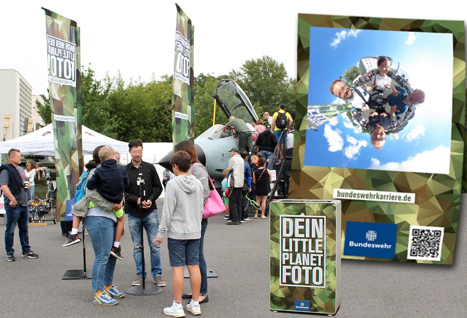 360° Veranstaltungsfotografie Berlin - Little-Planet-Effekt & Hashtag Printer