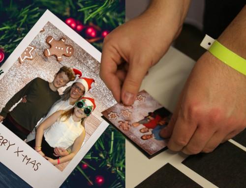 Fotoaktion Bluebox Kronberg – Magnetfotos für Firmenweihnachtsfeier