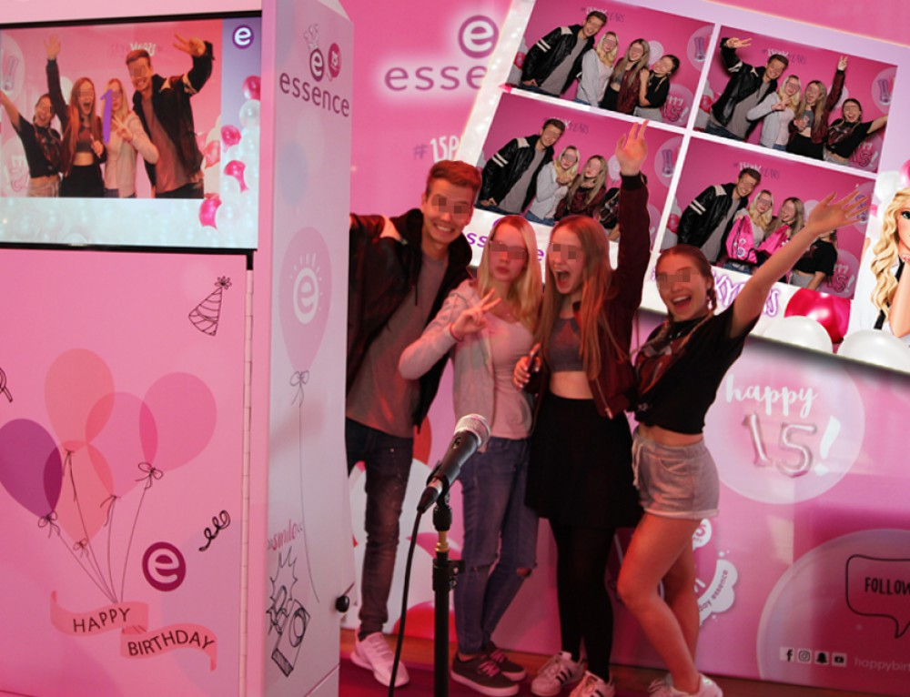 Fotobox mieten Amsterdam – Photobooth für essence beauty Roadshow