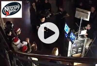 Nescafe Xpress im Cinestar Metropolis - Videobox gemietet Frankfurt