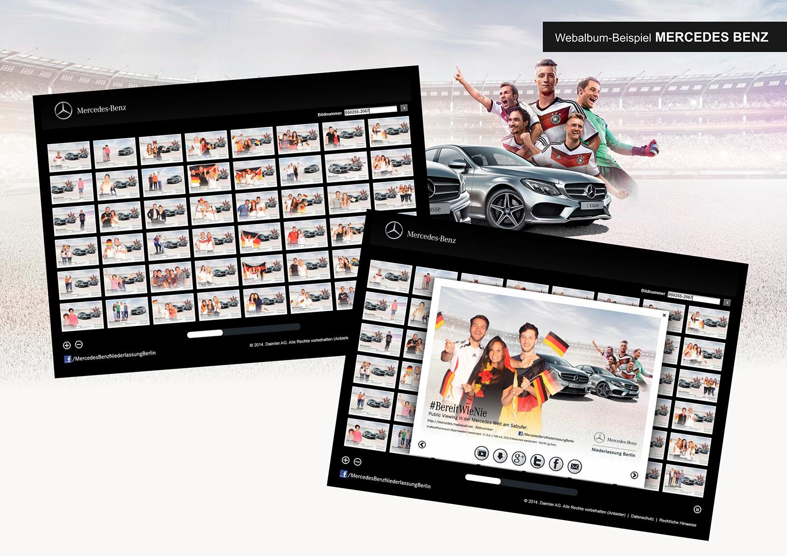 Webalbum Mercedes-Benz Social Media Fotobox