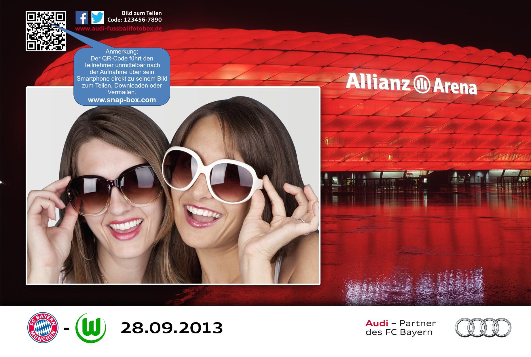 Audi Photobooth in der Allianz Arena