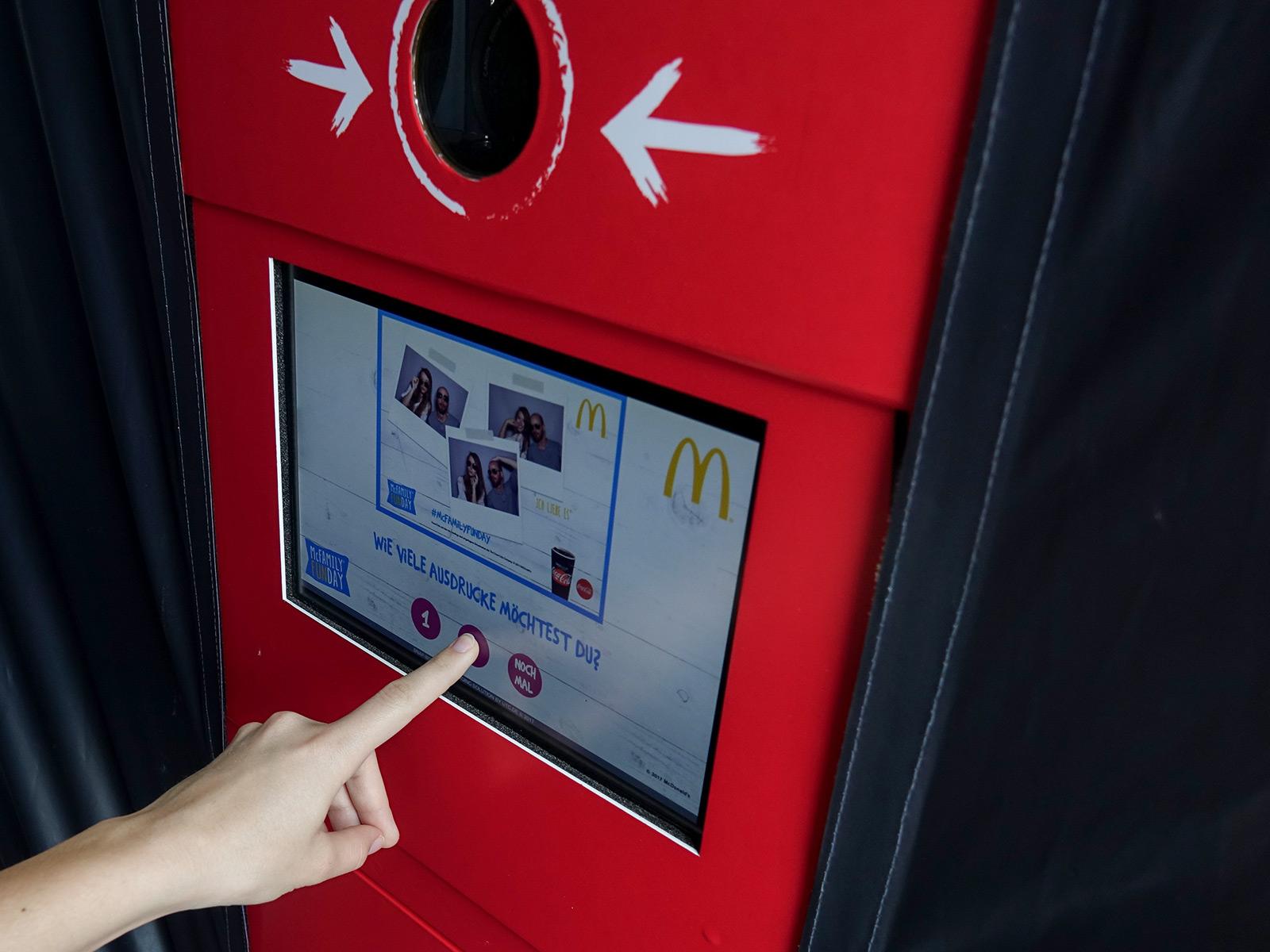 Fotoautomat Bildschirm