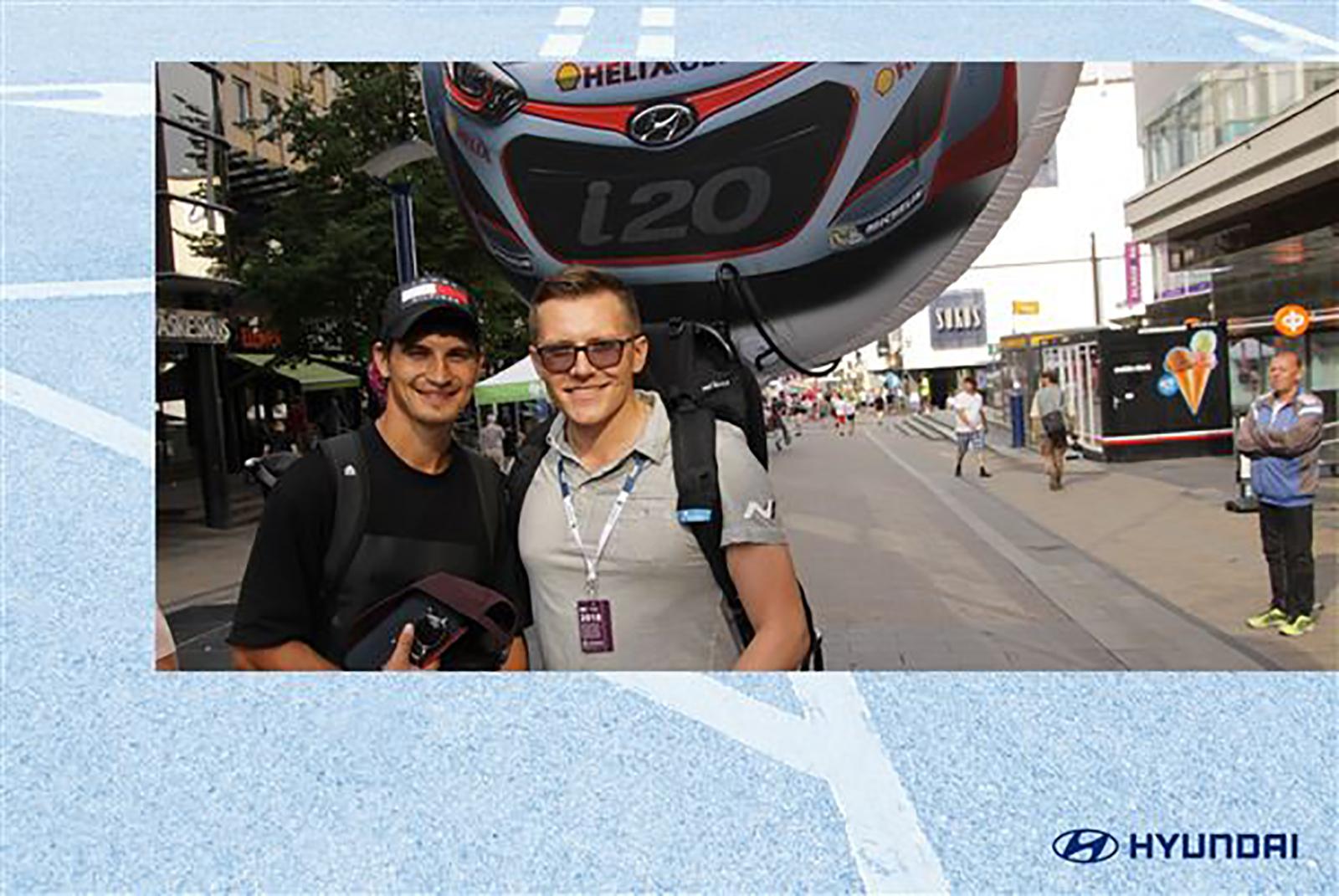 Beispiel WRC Fotobox Bild für Roadshow