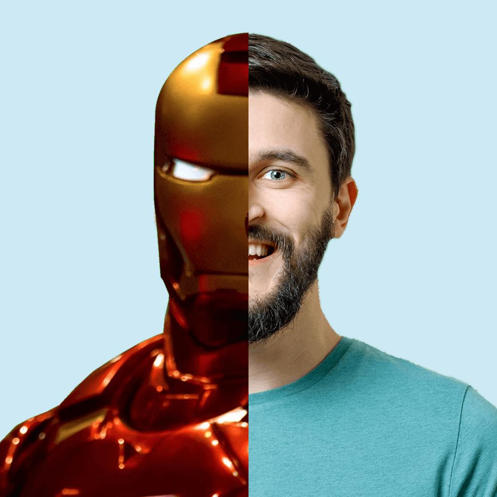 Morphing-Kampagne-Superheld