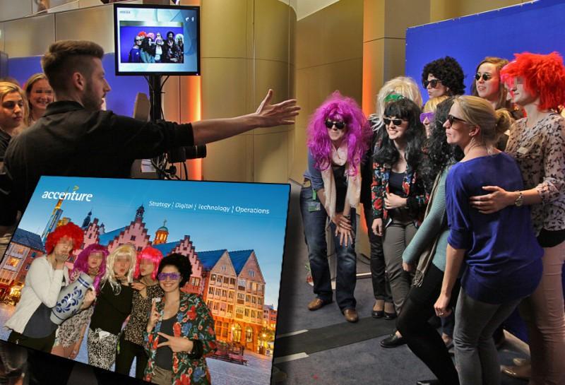 Fotoaktion Bluebox Frankfurt - Accenture Deutschland Abendveranstaltung