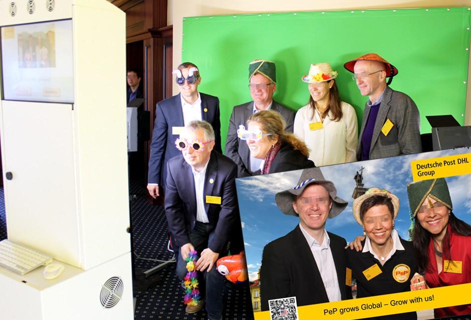 Fotoaktion Bluebox Rostock - Deutsche Post DHL Führungskräftetagung